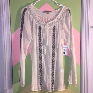 Pheasant blouse Nine West Vintage Jeans XL